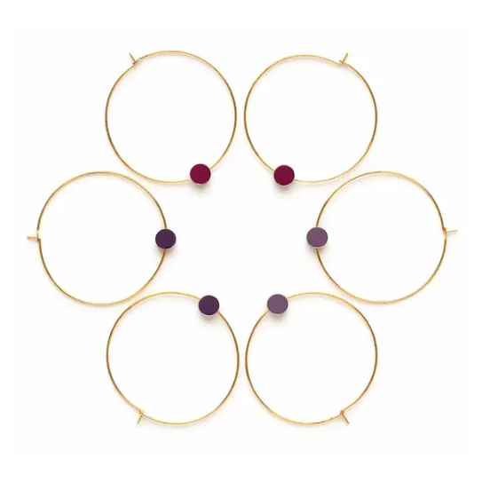 Gold Circle Color Story Hoops - Autumn Plums