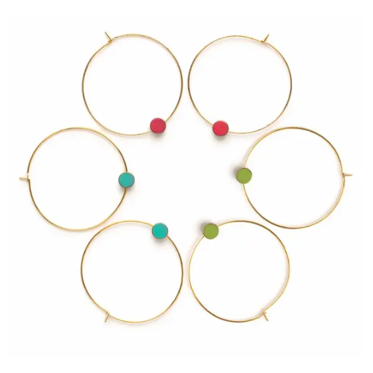 Gold Circle Color Story Hoops - Summer Pop