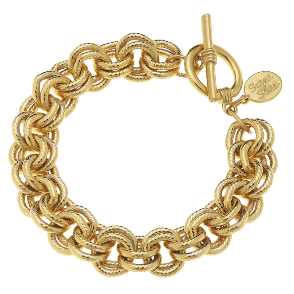 Susan Shaw Handcast Gold Double Link Chain-Susan Shaw Jewelry-Blue Hand Home