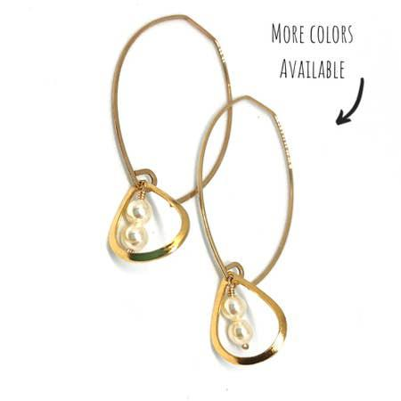 Gold Fill Grecian Teardrops Earrings