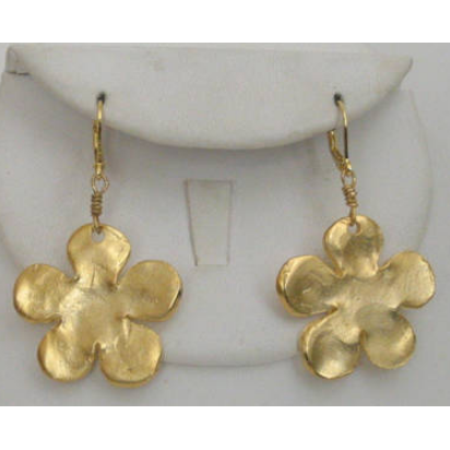 Susan Shaw Handcast Gold Flower Earrings