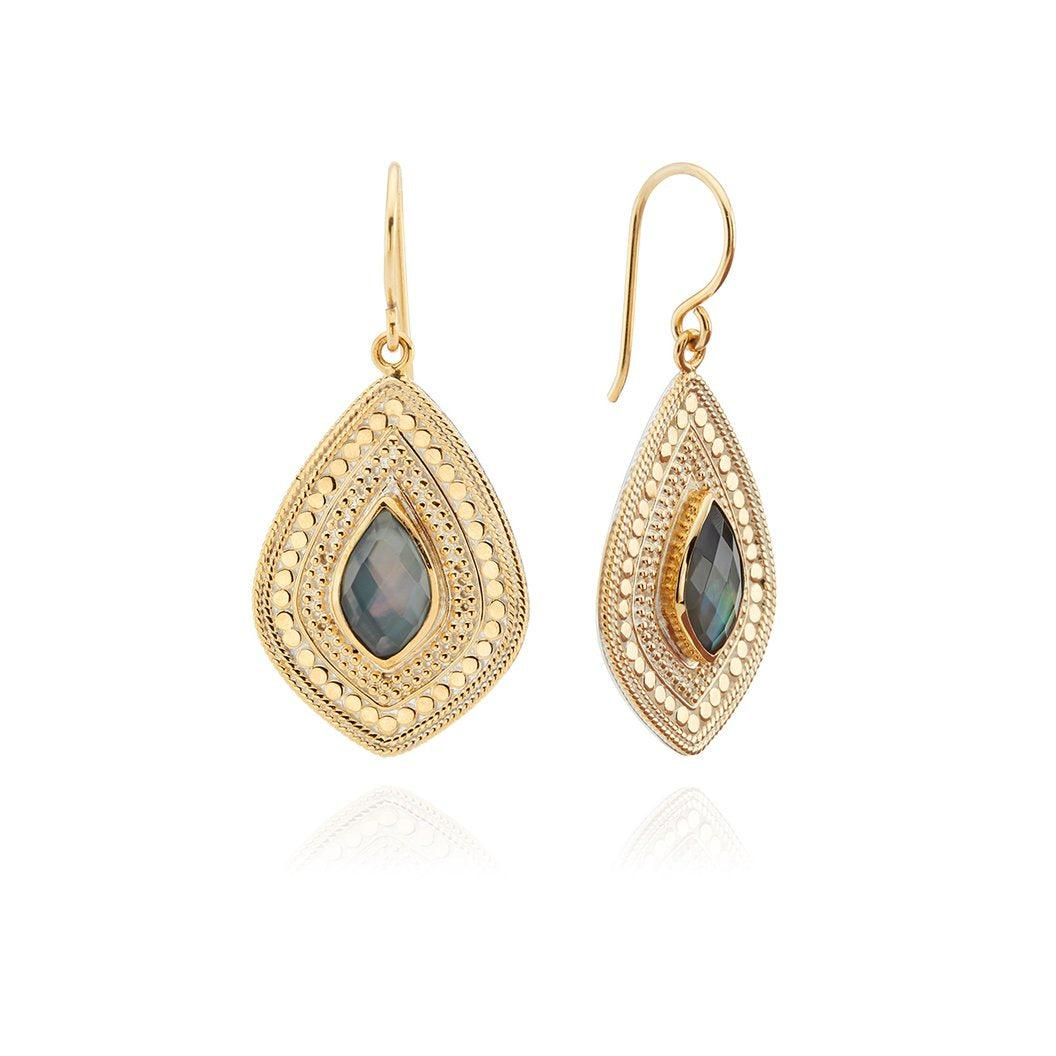 Anna Beck Grey Quartz Drop Earrings-Anna Beck Jewelry-Blue Hand Home