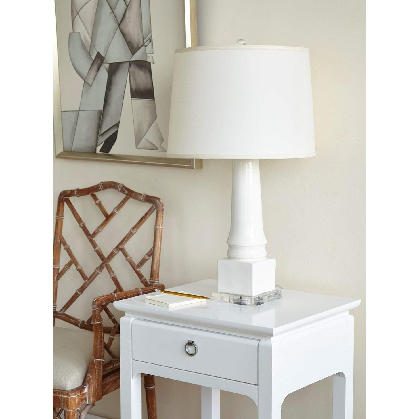 Bungalow 5 - HARLOW 1-DRAWER SIDE TABLE in WHITE