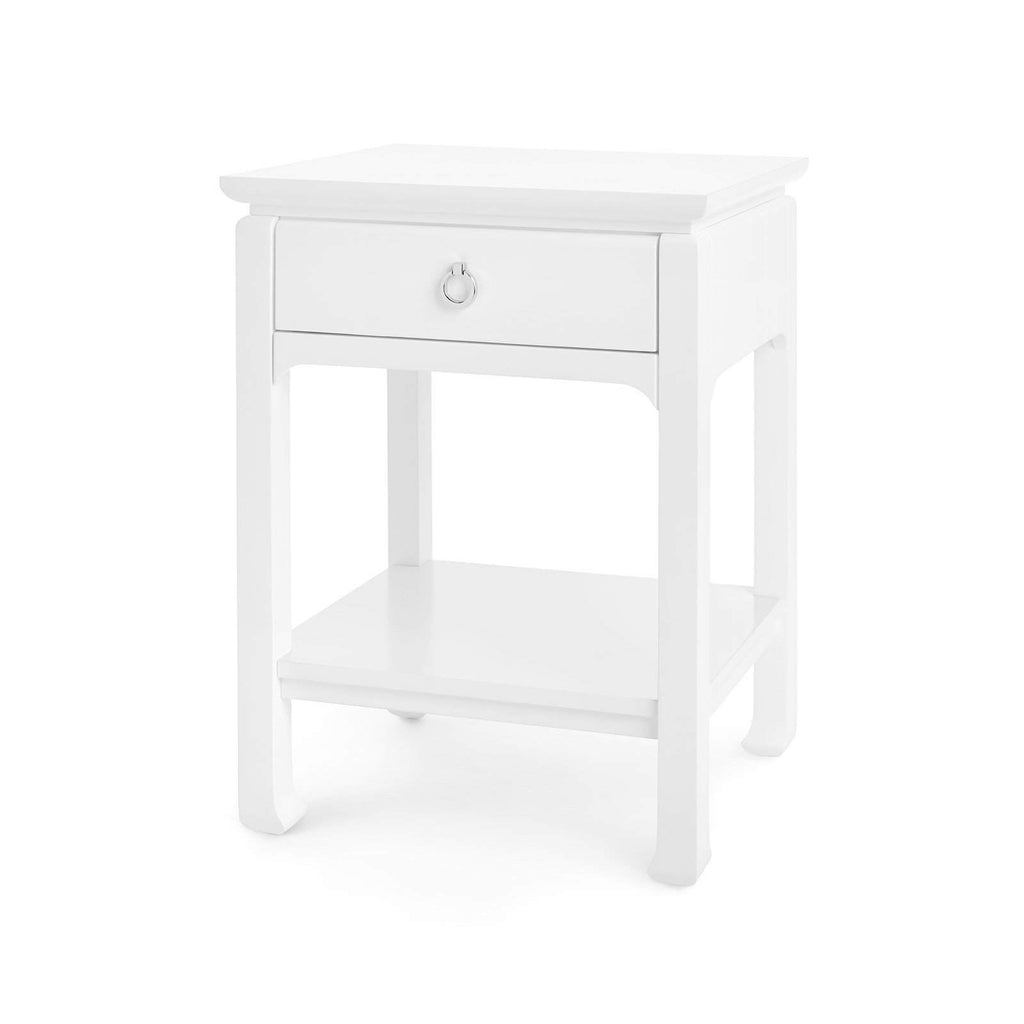 Bungalow 5 - HARLOW 1-DRAWER SIDE TABLE in WHITE-Bungalow 5-Blue Hand Home