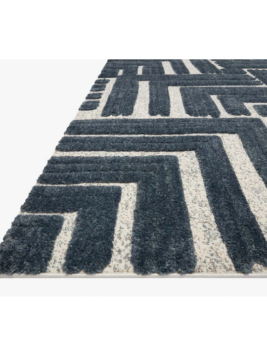 Hagen Rugs by Loloi - HAG-05 Blue/White