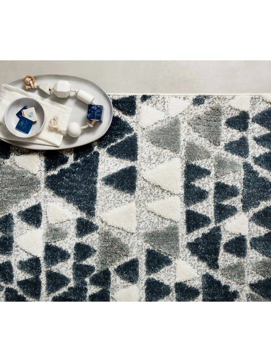 Hagen Rugs by Loloi - HAG-06 Slate/Denim
