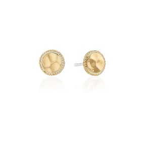 Anna Beck Hammered Stud Earrings - Gold-Anna Beck Jewelry-Blue Hand Home