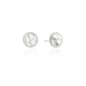Anna Beck Hammered Stud Earrings - Silver-Anna Beck Jewelry-Blue Hand Home