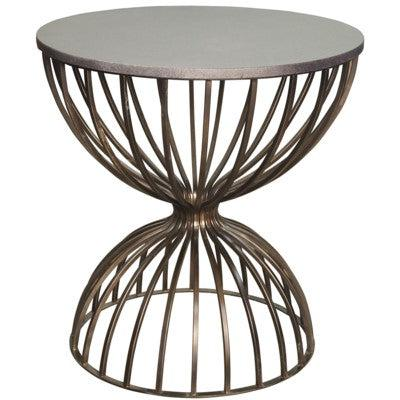 Noir Hourglass Side Table, Metal