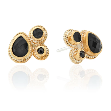 Anna Beck Hypersthene Cluster Stud Earrings