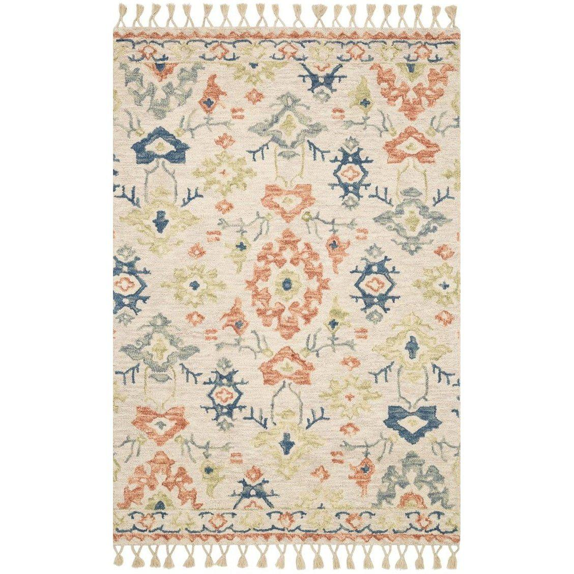 Joanna Gaines Kasuri Rug Collection - Ivory/Mosaic-Loloi Rugs-Blue Hand Home