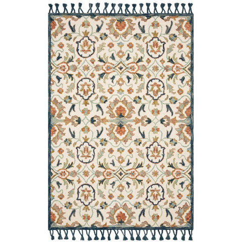 Joanna Gaines Kasuri Rug Collection - Ivory/Multi
