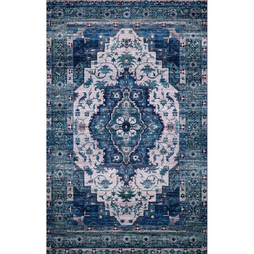Justina Blakeney Rugs - Cielo - CIE-01 Ivory/Turquoise-Loloi Rugs-Blue Hand Home