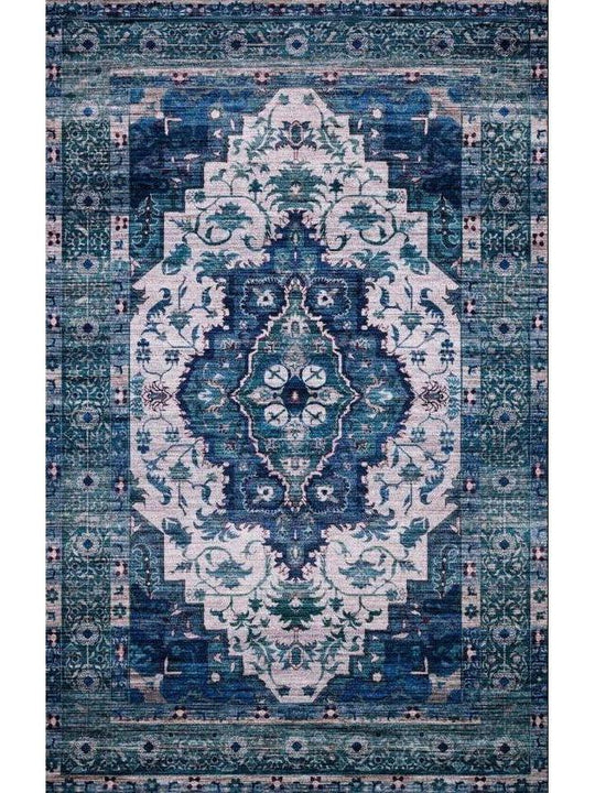 Justina Blakeney Rugs - Cielo - CIE-01 Ivory/Turquoise