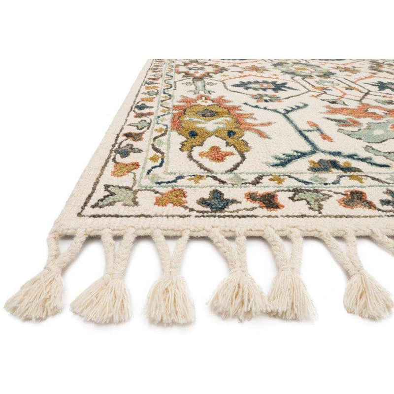 Joanna Gaines Kasuri Rug Collection - Ivory/Tuscan Clay-Loloi Rugs-Blue Hand Home