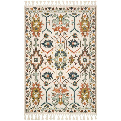 Joanna Gaines Kasuri Rug Collection - Ivory/Tuscan Clay