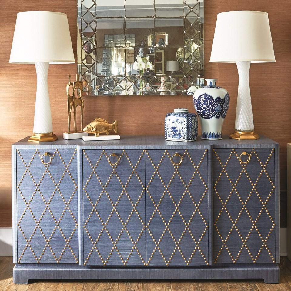 Bungalow 5 - JANAK LARGE CABINET in BLUE-Bungalow 5-Blue Hand Home