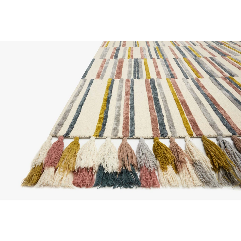 Justina Blakeney Jamila Rug Collection - JAA-02 Ivory/Multi-Loloi Rugs-Blue Hand Home
