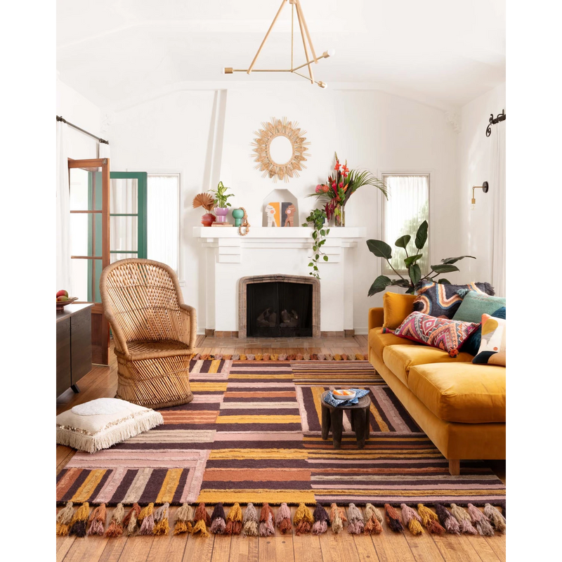 Justina Blakeney Jamila Rug Collection - JAA-04 Spice/Bordeaux-Loloi Rugs-Blue Hand Home