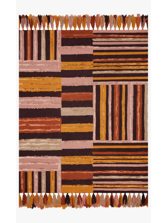 Justina Blakeney Jamila Rug Collection - JAA-04 Spice/Bordeaux