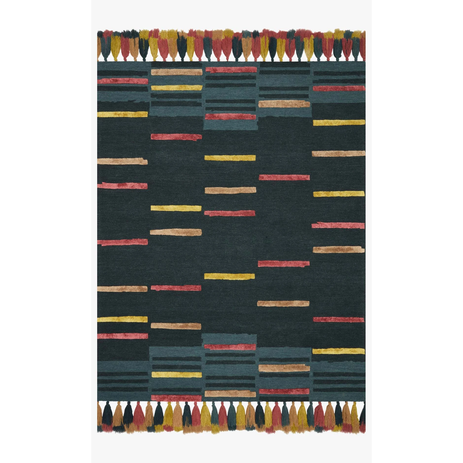 Justina Blakeney Jamila Rug Collection - JAA-03 Teal/Sunset-Loloi Rugs-Blue Hand Home
