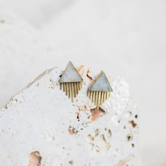 Joshua Tree Stud Earrings-Joya-Blue Hand Home