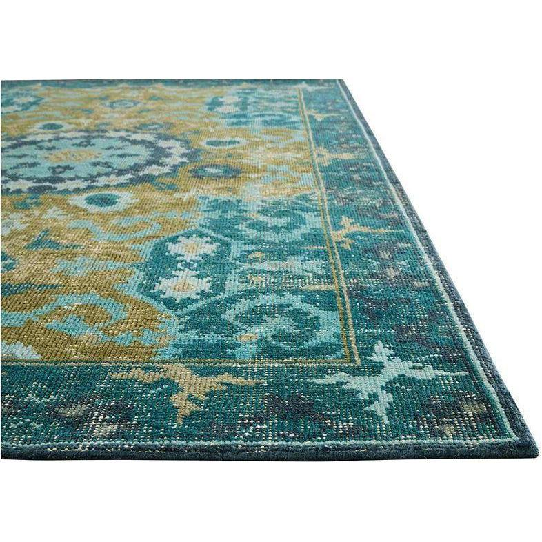 Jaipur Kai Rugs - Deep Teal and Avocado-Jaipur Living-Blue Hand Home