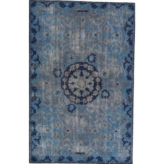 Jaipur Kai Rugs - Moonlight Blue and Peacoat