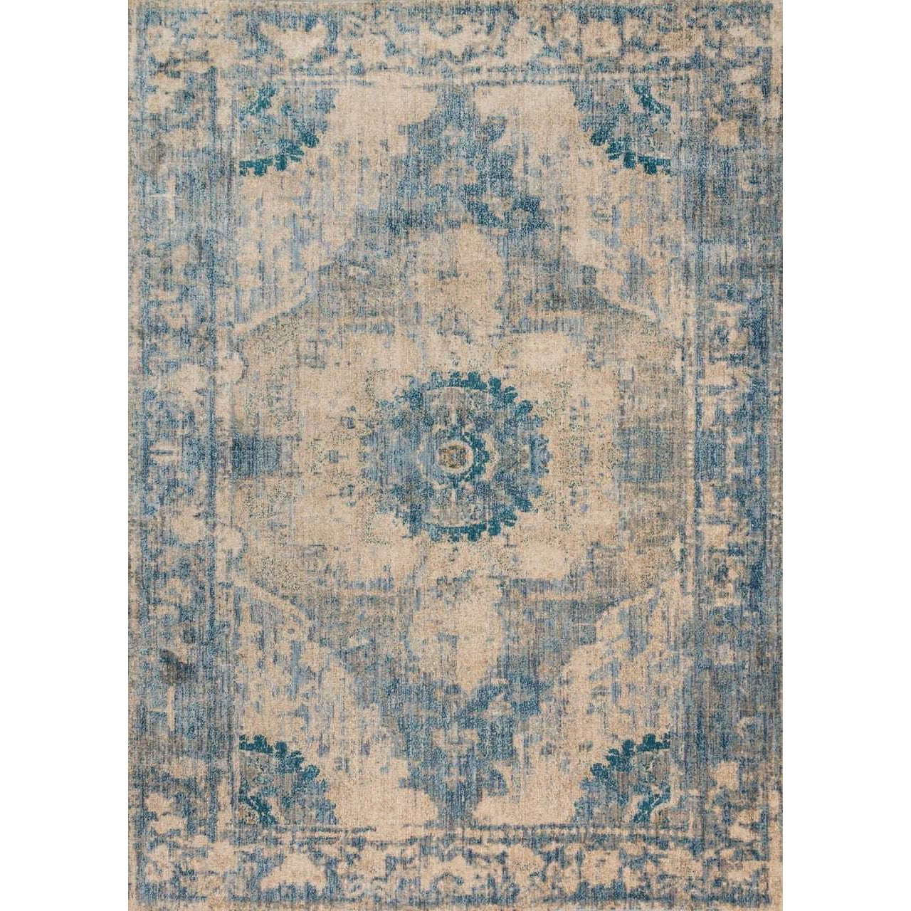 Joanna Gaines Rugs of Magnolia Home Rug Collection - Kivi Collection - Sand / Sky - Blue Hand Home