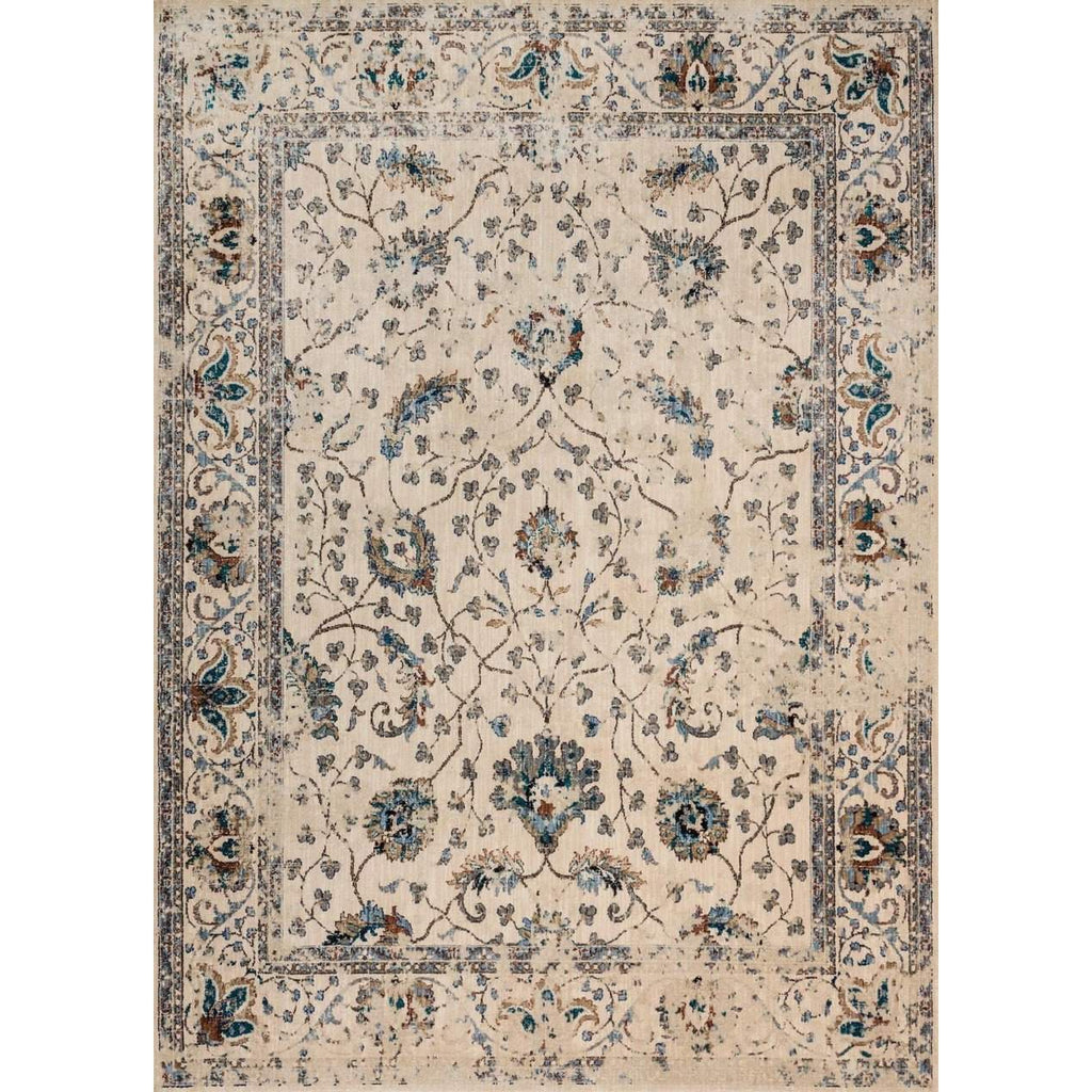 Joanna Gaines Rugs of Magnolia Home Rug Collection - Kivi Collection - Ivory / Multi - Blue Hand Home