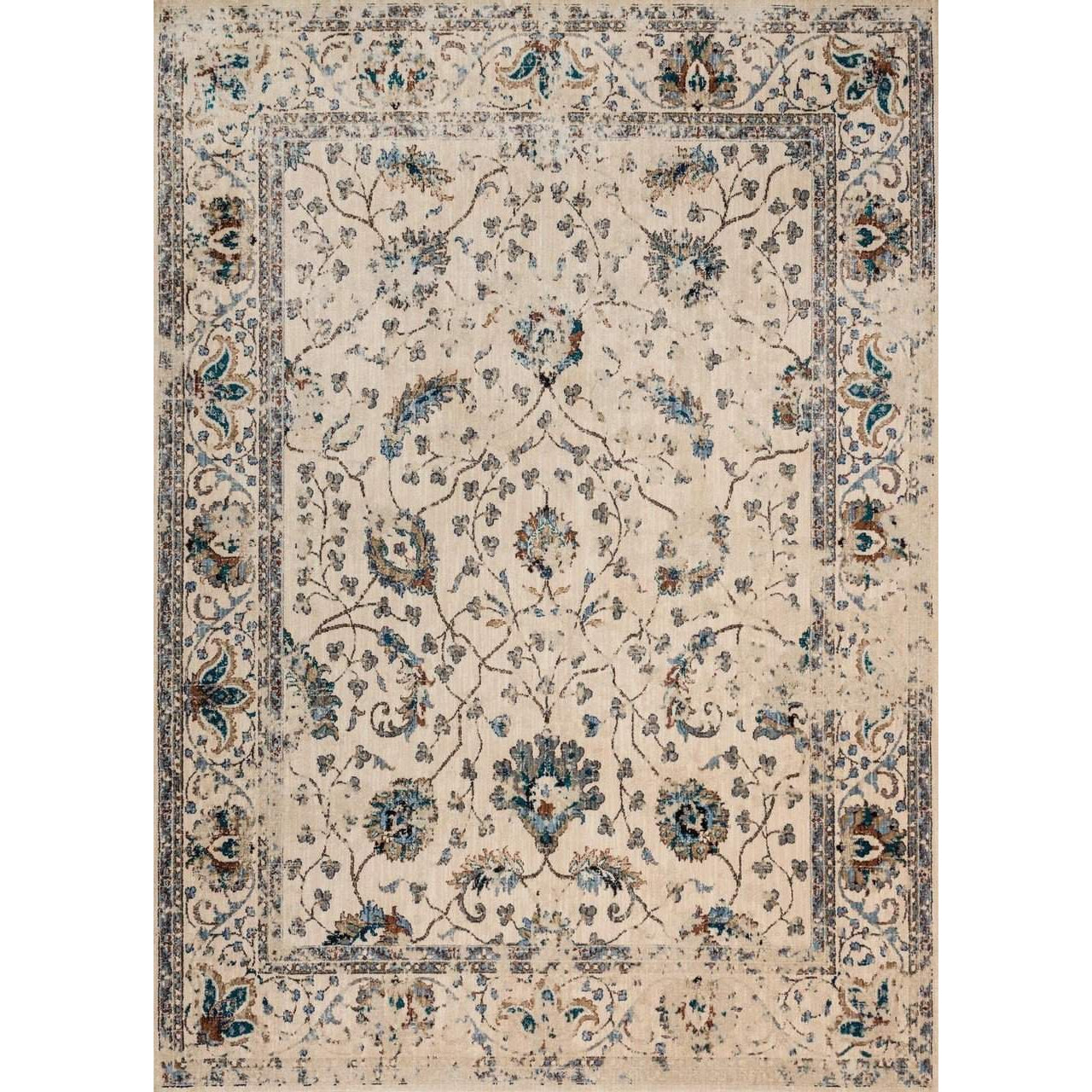 Joanna Gaines of Magnolia Home Kivi Rug Collection - Ivory / Multi