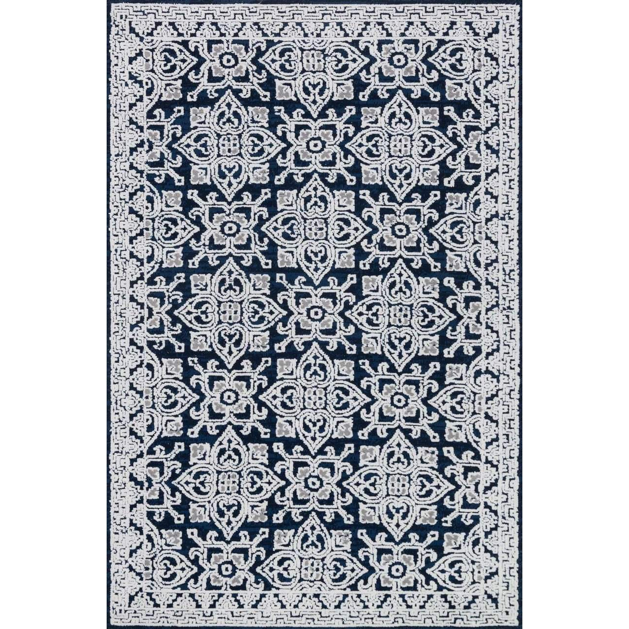 Joanna Gaines Lotus Rug Collection - Midnight / Silver-Loloi Rugs-Blue Hand Home