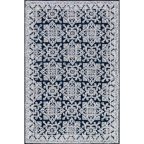 Joanna Gaines Lotus Rug Collection - Midnight / Silver