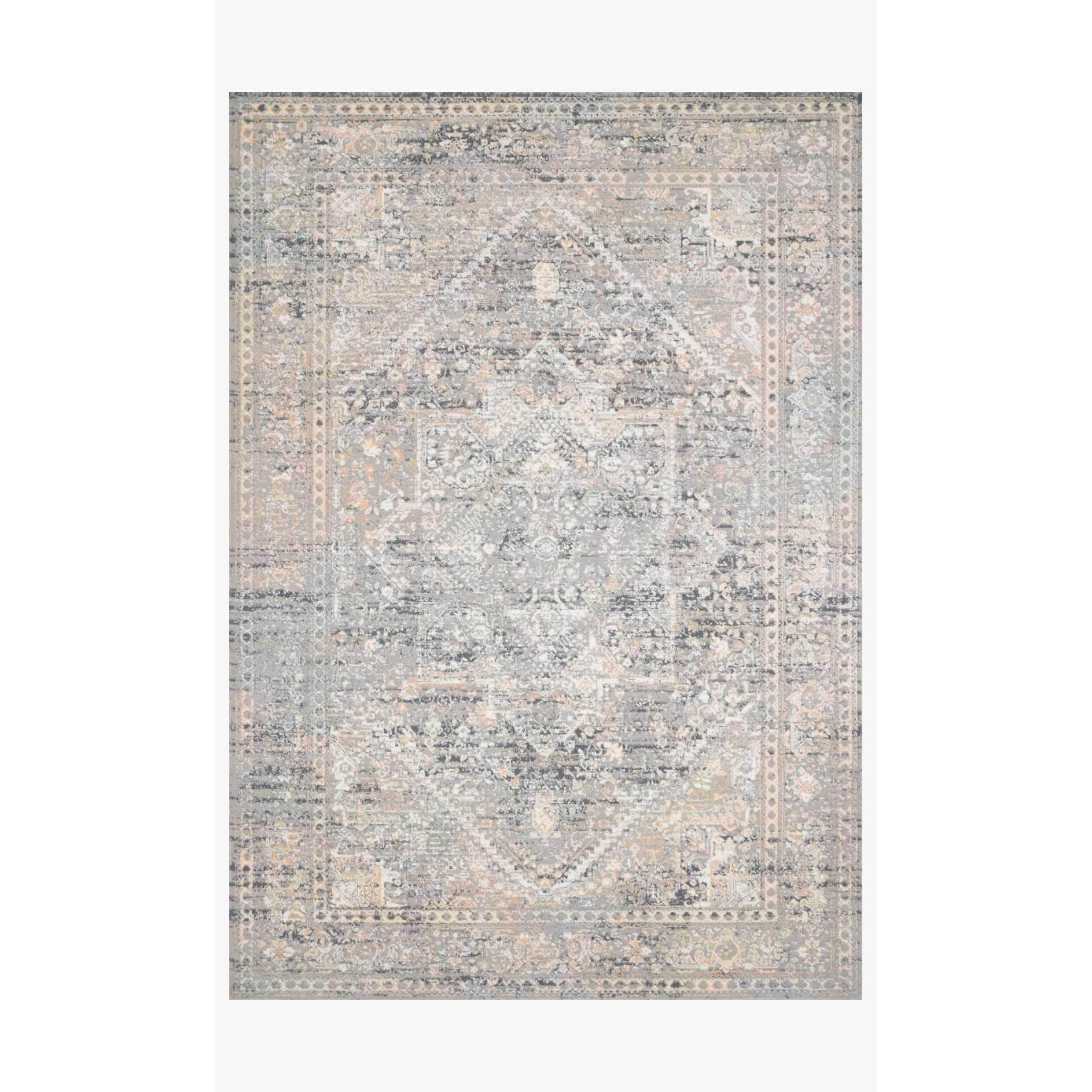 Lucia Rugs by Loloi - Grey / Sunset-Loloi Rugs-Blue Hand Home