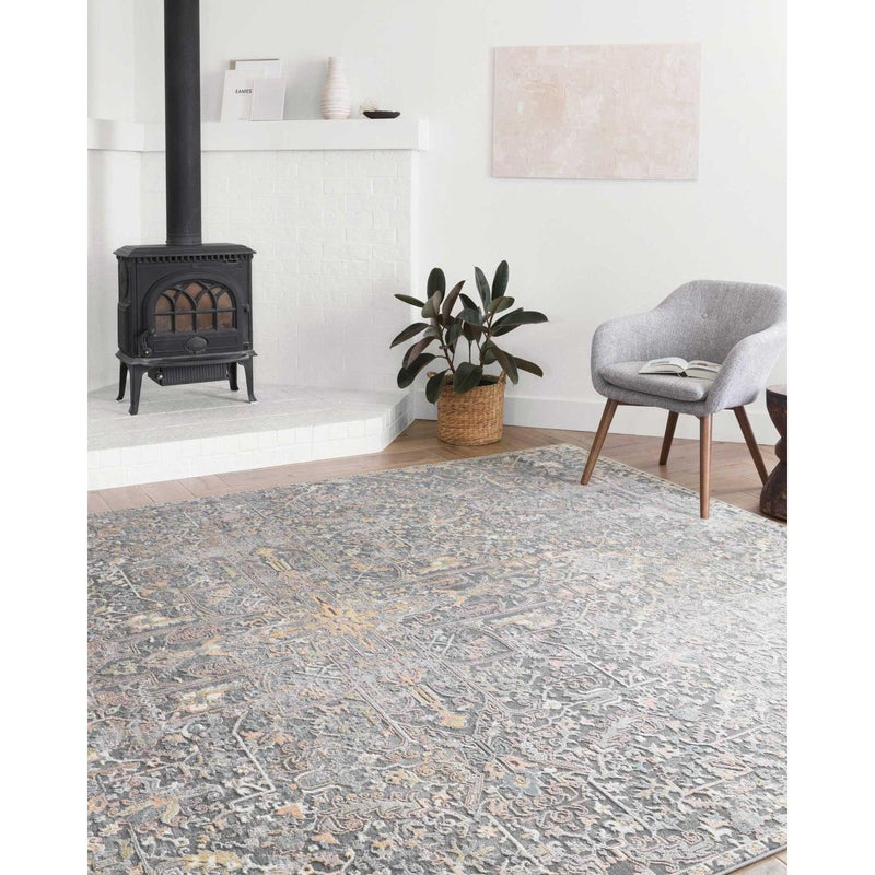 Lucia Rugs by Loloi - Charcoal / Multi-Loloi Rugs-Blue Hand Home