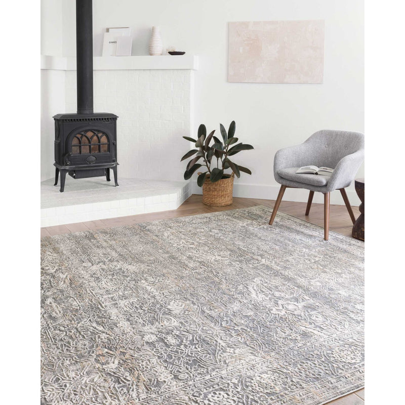 Lucia Rugs by Loloi - Steel / Ivory-Loloi Rugs-Blue Hand Home