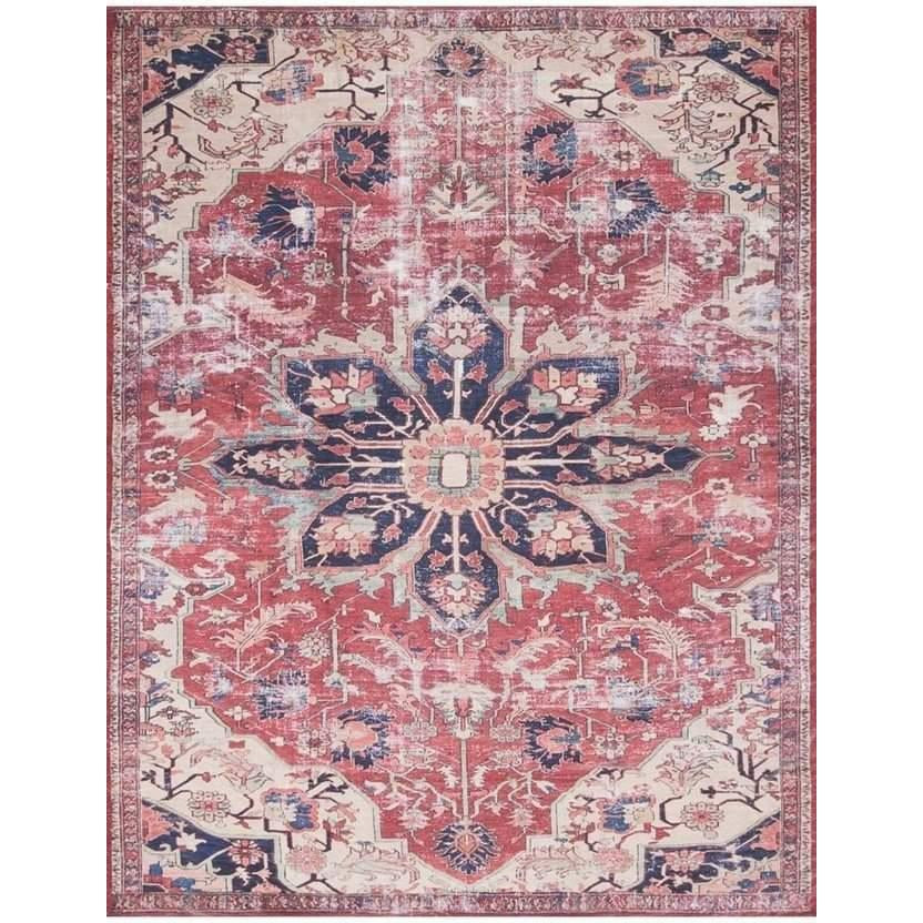 Joanna Gaines Lucca Rug Collection - LF-04 Rust/Ivory-Loloi Rugs-Blue Hand Home