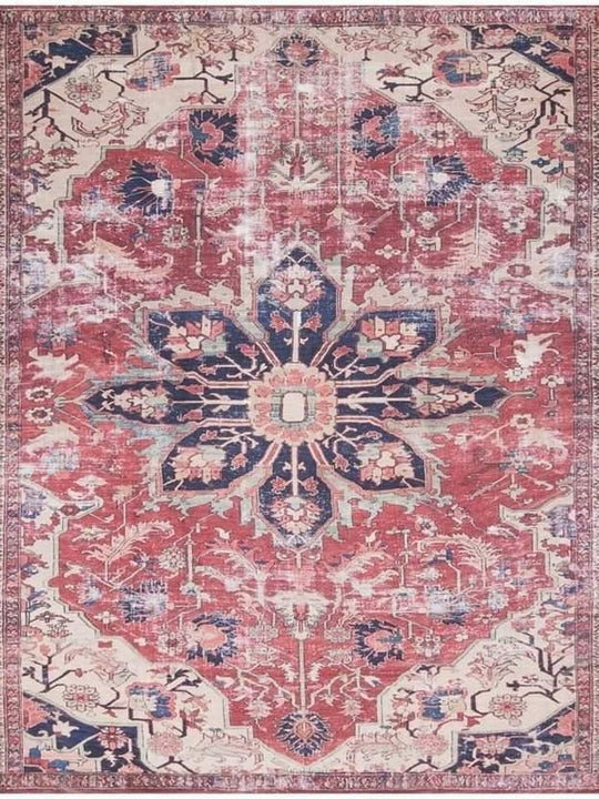 Joanna Gaines Lucca Rug Collection - LF-04 Rust/Ivory