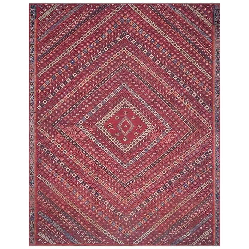 Joanna Gaines Lucca Rug Collection - LF-05 Red/Multi-Loloi Rugs-Blue Hand Home