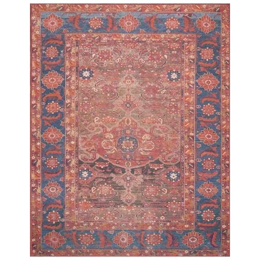 Joanna Gaines Lucca Rug Collection - LF-07 Rust/Blue-Loloi Rugs-Blue Hand Home