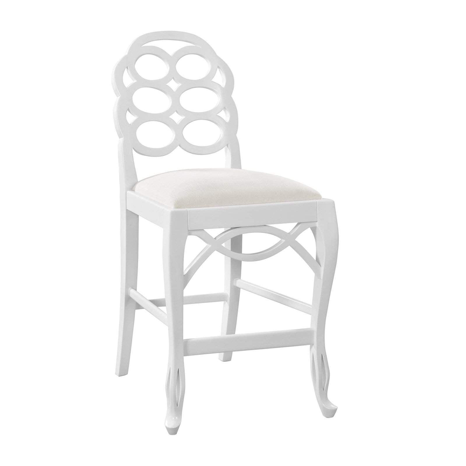 Bungalow 5 - LOOP COUNTER STOOL in WHITE