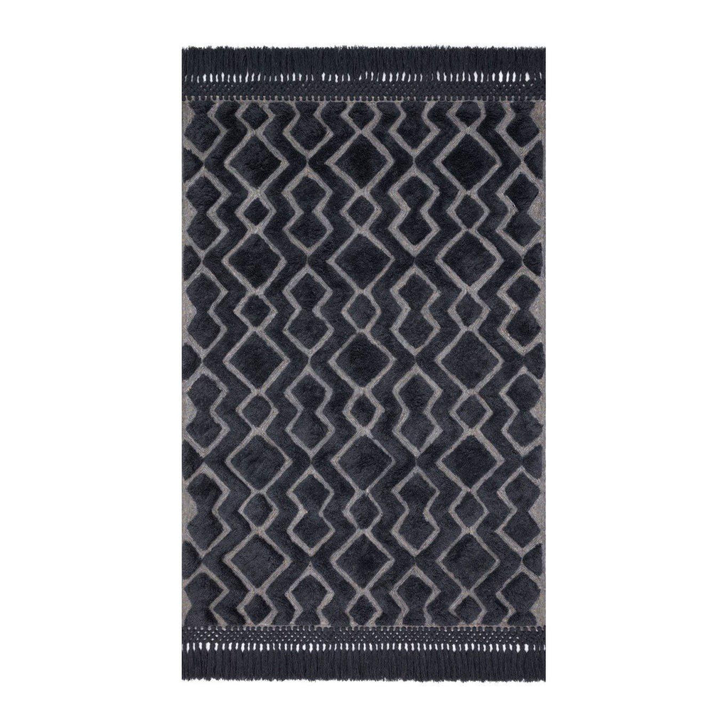 Joanna Gaines Laine Rug Collection - LAI-03 Grey/Charcoal-Loloi Rugs-Blue Hand Home