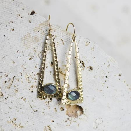 Joya Laine Drop Earrings-Joya-Blue Hand Home