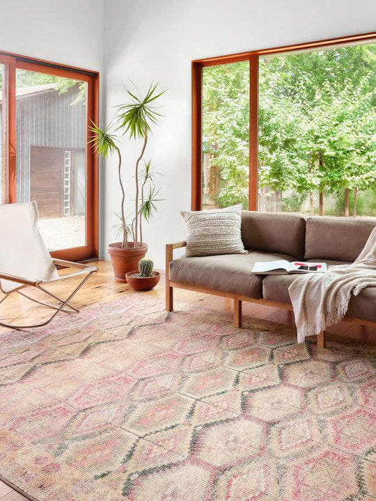 Loloi Rugs Layla Collection - LAY-17 Pink/Lagoon