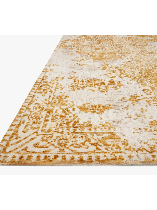 Joanna Gaines Lindsay Rug Collection - LIS-01 Gold/Antique White