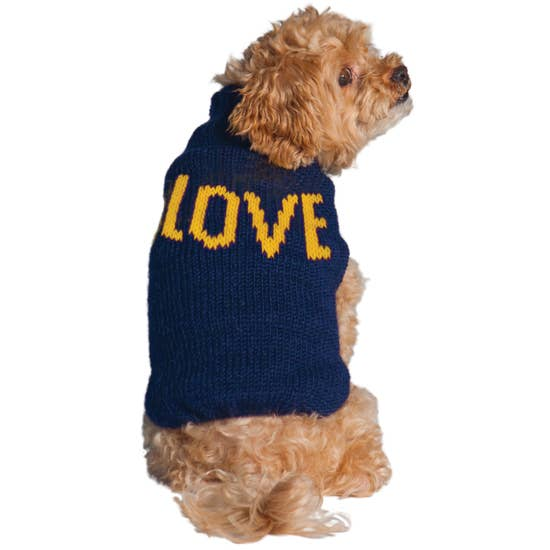 Love Alpaca Dog Sweater-Chilly Dog-Blue Hand Home