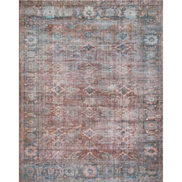 Joanna Gaines Lucca Rug Collection - LF-11 Brick/Ocean-Loloi Rugs-Blue Hand Home