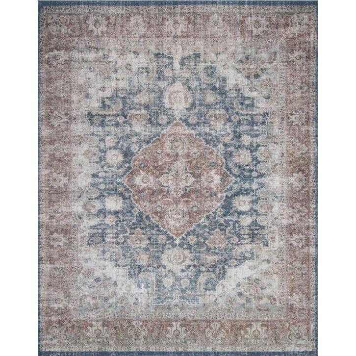 Joanna Gaines Lucca Rug Collection - LF-10 Denim/Terracotta