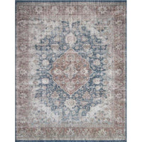 Joanna Gaines Lucca Rug Collection - LF-10 Denim/Terracotta-Loloi Rugs-Blue Hand Home