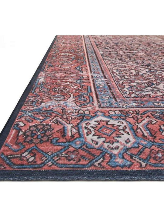 Joanna Gaines Lucca Rug Collection - LF-08 Navy/Red